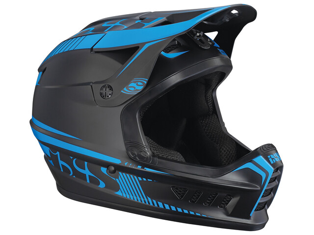 IXS Xact Fullface Helmet black/fluo blue